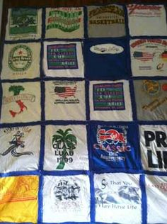 Easy t shirt quilt pattern design with fleece back diy Fleece T Shirt Quilt Pattern and Tutorial [Easy!]