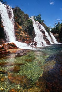 waterfall on the Prata River, Chapada dos Veadeiros National Park, Brazil