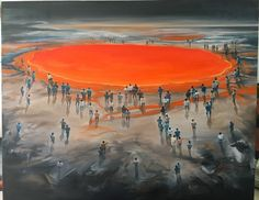 Artist - Hu Weiqing Collision - Archeology No. 2 冲撞-考古2, Oil on canvas 布面油画