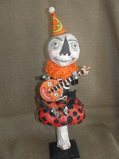 Skelly and his Banjo by hophopjingleboo on Etsy