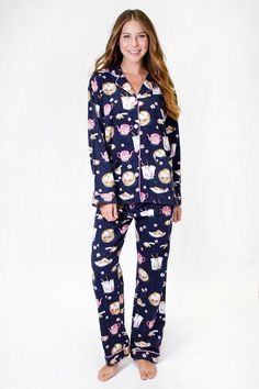 NWT PJ Salvage Flannel Chinese Take Out Food Pajamas Set 100% Cotton S  L XL NEW #PJSalvage #PajamaSets #Everyday