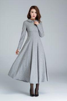Maxikleider - light grey dress, pleated dress,prom dress 1613 - ein Designerstück von yanhuayue bei DaWanda