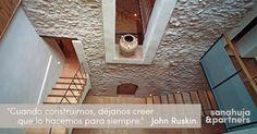 ⇢ #Rehabilitación y #arquitectura con raíces Proyectos que fueron, son y serán únicos  #quotes #proyectos