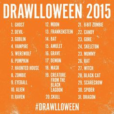 October Halloween Drawing Challenge 2015 (because I need to start drawing again) drawings inktober October Drawing Challenge by atomiccadet on DeviantArt Halloween Drawings, Halloween Art, Costume Halloween, Halloween Vampire, 30 Day Drawing Challenge, Oc Challenge, Challenge Ideas, Challenge Accepted, Drawing Prompt
