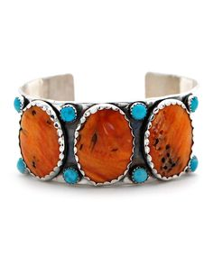 Richard Schmidt Spiny Oyster and Turquoise Cuff at Maverick Western Wear