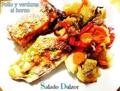 Salado Dulzor: Pollo y verduras al horno