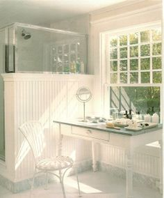 When Martha Stewart first designed her ensuite bathroom, she considered exactly how it would be used. Fixtures and accessories were then acquired to make it all work.