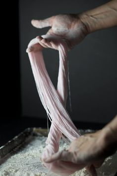 Hand-Pulled Cotton Candy | Click the image to see how it's done - so cool.