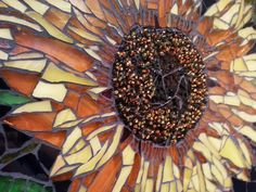 sunflower mosaics #6 - Not these colores necessarily, but this shape. Google Search