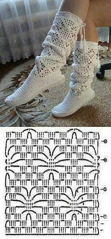 Crochet accessories 549017010824147251 - New Crochet Slippers Boots Ideas Source by Crochet Diy, Crochet Motifs, Crochet Chart, Love Crochet, Crochet Stitches, Crochet Slipper Boots, Crochet Slippers, Knitting Patterns, Crochet Patterns