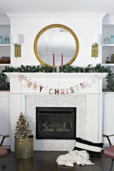 Bake Craft Sew Decorate: Mixed Metals Christmas Mantel via @classyclutter4