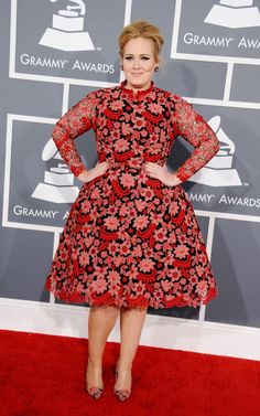 Adele arrives at the 55th Annual GRAMMY Awards