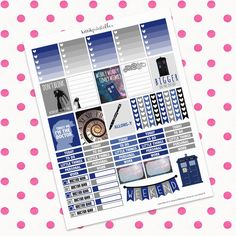 Doctor Who Themed Set || Printable Planner Stickers || Instant Digital Download (2.50 USD) by kittikprints