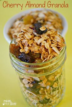 Cherry Almond Granola Recipe - this healthy granola recipe uses just a ...