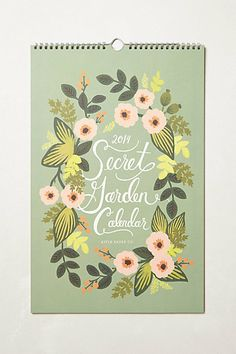 Secret Garden 2014 Calendar   #anthropologie