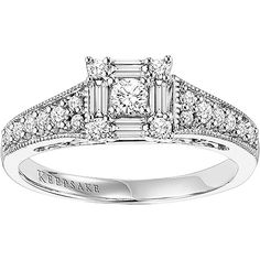 Keepsake Sincerity 1/2 Carat T.W. Diamond 14kt White Gold Engagement Ring  You know, different from my trillion side stones... but not a bad design at all! I like the 5 smaller stones in a princess setting.