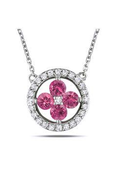 Pink & White Diamond Necklace - Beyond the Rack