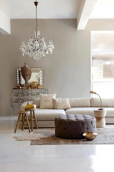 Neutral mix of rustic, modern and vintage.