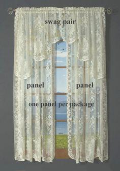 Fiona Scottish Lace Rod Pocket Curtain Panel