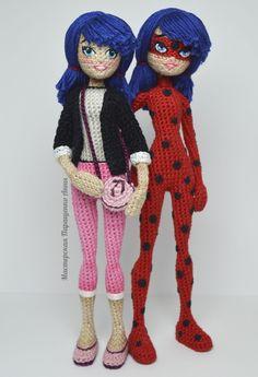 Miraculous Crochet Amigurumi of Ladybug and Cat Noir – So Good! - - Miraculous Crochet Amigurumi of Ladybug and Cat Noir – So Good! Crochet Ladybug, Crochet Baby, Free Crochet, Cat Crochet, Crochet Dolls Free Patterns, Crochet Doll Pattern, Crochet Patterns Amigurumi, Amigurumi Doll, Lady Bug