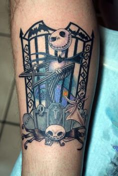 25 Jack Skellington tattoos #nightmarebeforechristmas #timburton