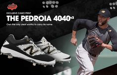 16e41357e41b New Balance Pedroia Low-Cut 4040v3 Metal Cleat | Sneaker Kat Metal Cleats,  New