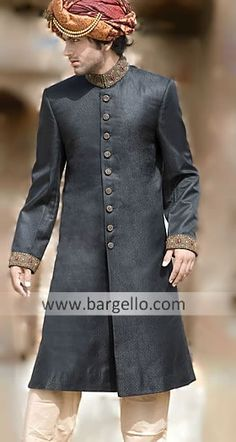 Fine Sherwani suits Pakistani Indian Sherwani Great Variety of Beautiful Sherwanis M399 Sherwani $249 to $349