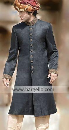 Fine Sherwani suits Pakistani Indian Sherwani Great Variety of Beautiful Sherwanis M399 Sherwani $249 to $349