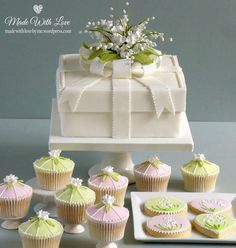 Lily of theValley Christening Cake etc