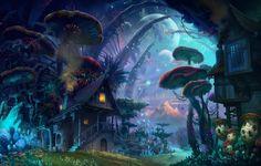 Wallpaper science fiction, fantasy, house, mushroom, mushroom