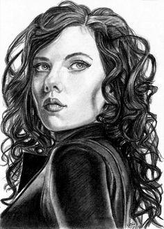 Black Widow Sketch Card 4-28-14 by khinson.deviantart.com on @deviantART
