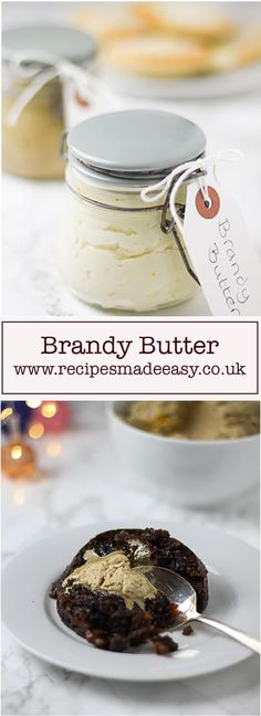 Brandy butter with Christmas pudding and mince pies taste so good. Easy to make with just a few ingredients. It can also be prepared ahead of time. Brandy Butter Recipe, Christmas Cooking, Christmas Pies, Christmas Goodies, Christmas Treats, Christmas Stuff, Vintage Christmas, Holiday Recipes, Christmas Recipes