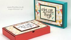No Glue Foldable Box using Stampin' Up! Supplies - YouTube