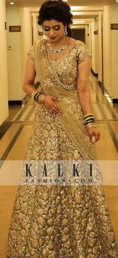 Reception Gowns: Buy Designer Gowns for Reception Online Pakistani Wedding Outfits, Bridal Outfits, Bridal Dresses, Indian Dresses, Indian Outfits, Dulhan Dress, Lehenga, Sabyasachi, Reception Gown