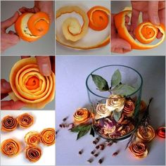 DIY Orange Peel Rose
