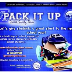 Sorors! Please help us collect school supplies for the students of Edgecombe Middle/Elementary School. Meet us at the Pikesville Library this coming Thursday between 6P to 7P (or contact a chapter/community service member) to drop off your supply donations! Thank you in advance!