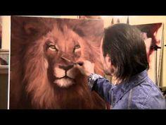 ▶ Artista Igor Sakharov ha scritto un ritratto di Leone - YouTube