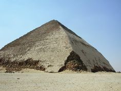 Bent Pyramid Of Egypt: Intentional Design Of 12,000 Years Ago. Legacy of ancient civilization older than pharaohs.