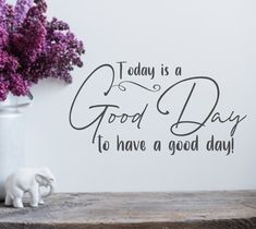 Excited to share this item from my #etsy shop: Today is a good day wall decal, wall decor, good day sign, positive affirmation, positivity quote, positive wall art Good News Quotes, Me Quotes, Motivational Quotes, Inspirational Quotes, Positive Affirmations, Positive Quotes, Kitchen Wall Decals, Bedroom Quotes, Just For Today