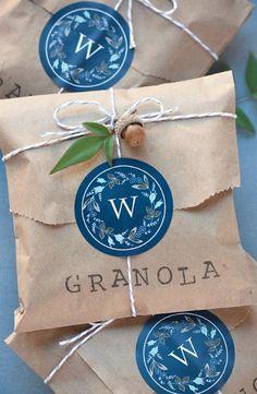 DIY Granola Wedding Favors