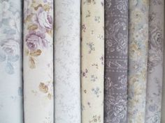 Pewter Roses - cotton fabric