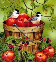 Chickadees and Apples (288 pieces)