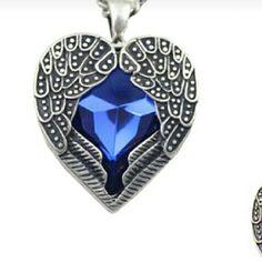 Angel pendant w necklace Link chain  w ruby.metal is zinc alloy. fashion jewelry Jewelry Necklaces