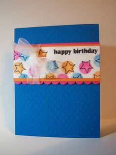 Birthday Stars by stampintothe80s - Cards and Paper Crafts at Splitcoaststampers