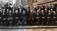Twenty-nine of history's most iconic scientists in one photograph – now in color! Notable attendees included Albert Einstein, Niels Bohr, Marie Curie, Erwin Schrödinger, Werner Heisenberg, Wolfgang Pauli, Paul Dirac and Louis de Broglie — to name a few.