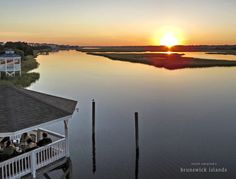 Throughout North Carolina's Brunswick Islands, waterfront restaurants are serving up local fare in scenic settings. The area offers waterfront dining set South Carolina, North Carolina Homes, Nc Beaches, Ocean Isle Beach, Waterfront Restaurant, Close To Home, Wonderful Places, Coastal, Vacation
