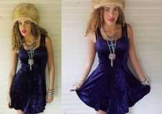 90s Purple Crushed Velvet Dress S by mwvintage on Etsy, $45.00
