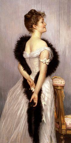 cavetocanvas:  James Tissot, Portrait of the Vicomtesse de Montmorand, 1889