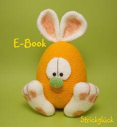 Crochet Tutorials – Amigurumi Crochet Bunny Hare Easter – a unique product by Strickglueck on DaWanda