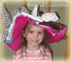Wrapping Paper Hats For Fancy Nancy Party